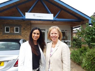 MP Ruth Cadbury Ruth visiting the Mulberry Centre in 2019.